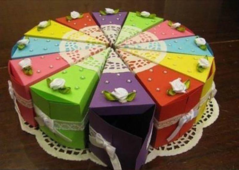 Doğum günü partisi için süper bir hediye sunumu