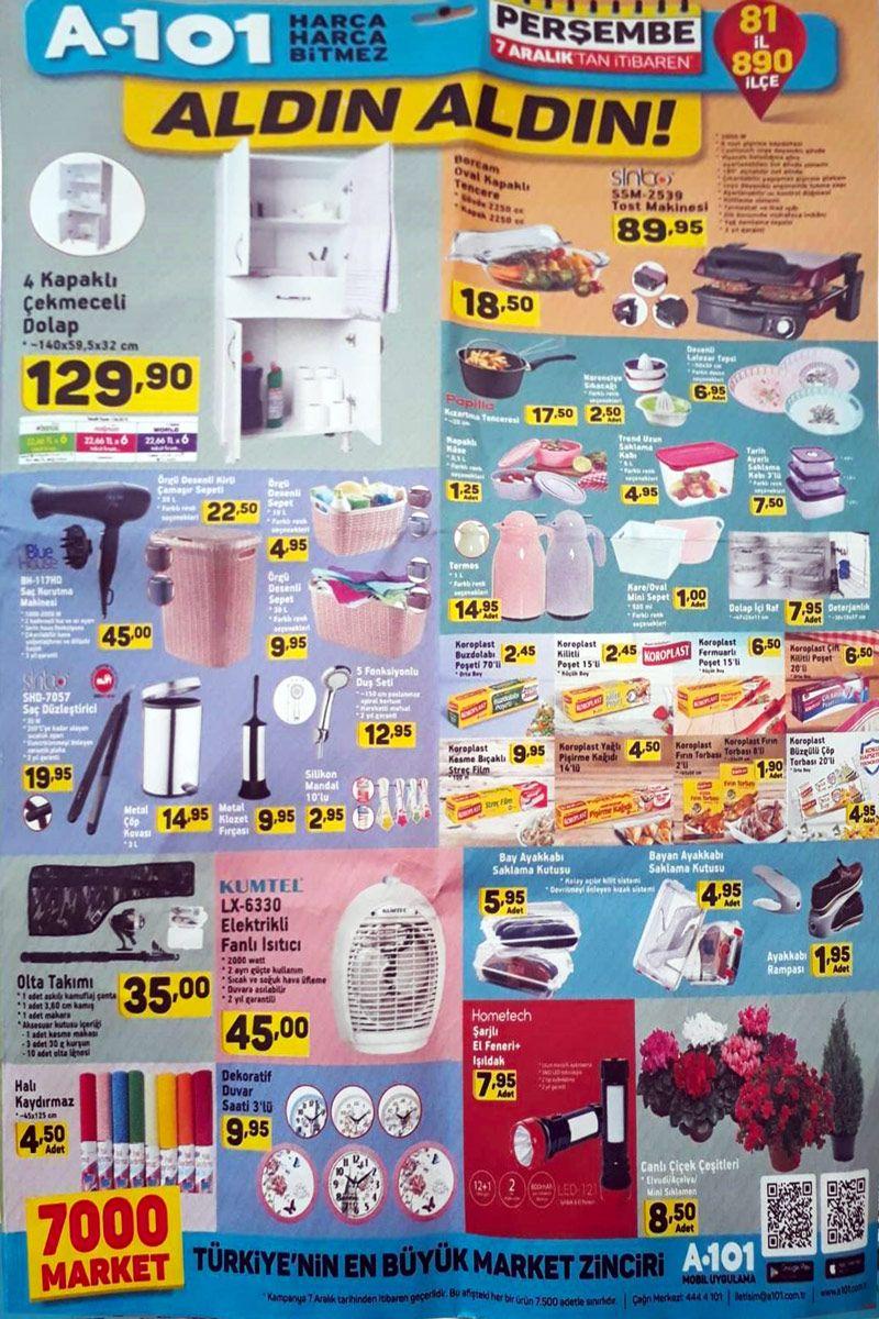 A101 Aktüel Ürünler 7 Aralık Kataloğu