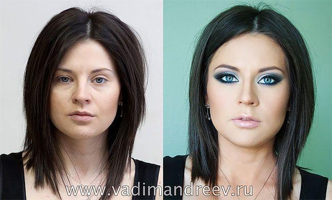 Photoshop değil sadece makyaj ile inanılmaz değişimler