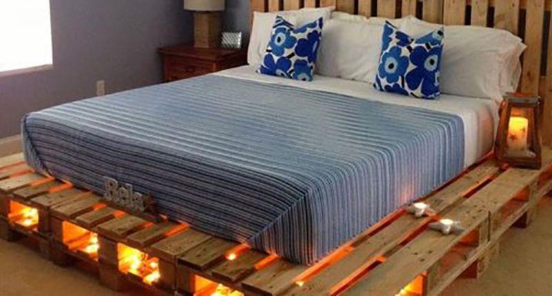 Pallet Bed Frame Diy Queen How To Build