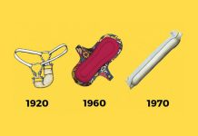Kadın pedlerinin yüzyıllık değişimi...