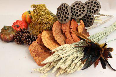 Sonbahar Temalı Çelenk Malzemeleri