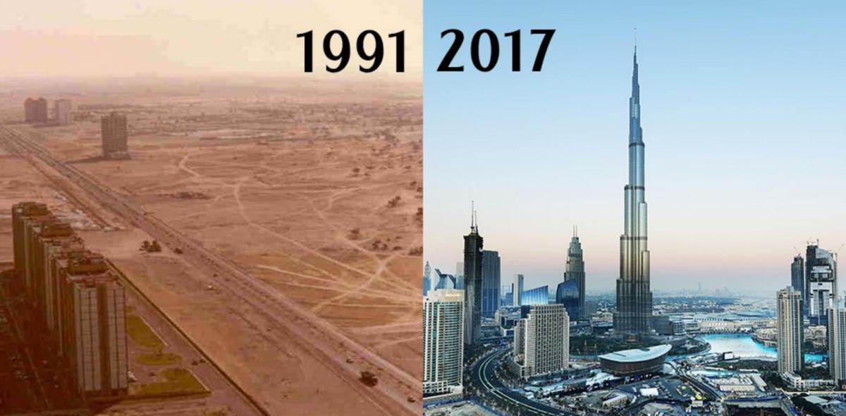 Popüler kentlerin inanılmaz öncesi ve sonrası resimleri Dubai