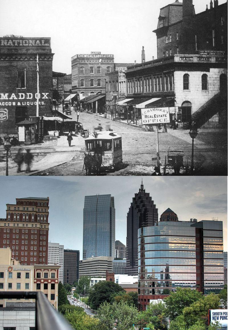 Popüler kentlerin inanılmaz öncesi ve sonrası resimleri Atlanta