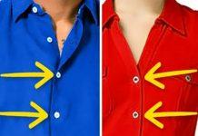 Hiç Merak Ettiniz mi, Erkeklerin Ve Kadınların Gömlekleri Neden Farklı Taraflarda Düğmeleniyor?