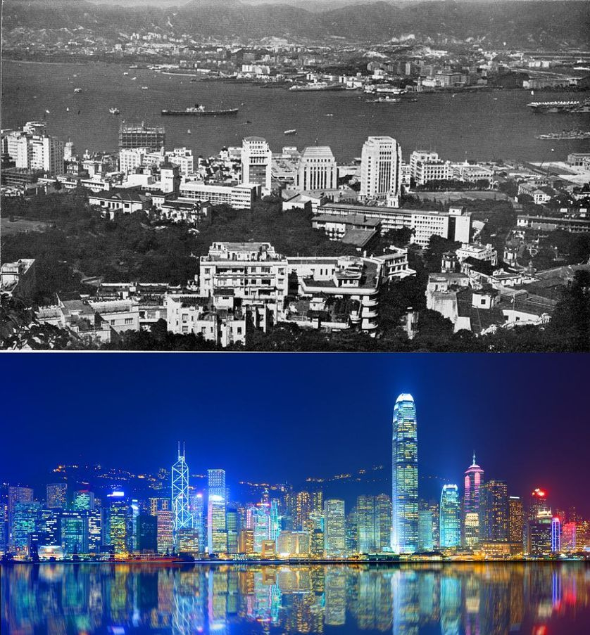 Popüler kentlerin inanılmaz öncesi ve sonrası resimleri Hong Kong