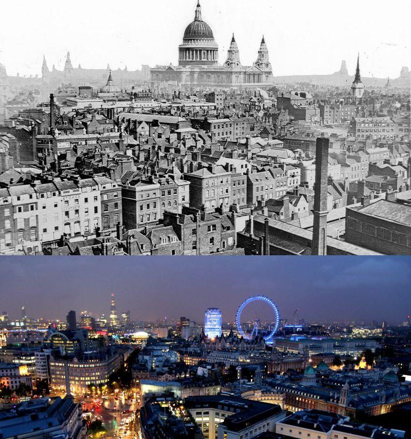 Popüler kentlerin inanılmaz öncesi ve sonrası resimleri London
