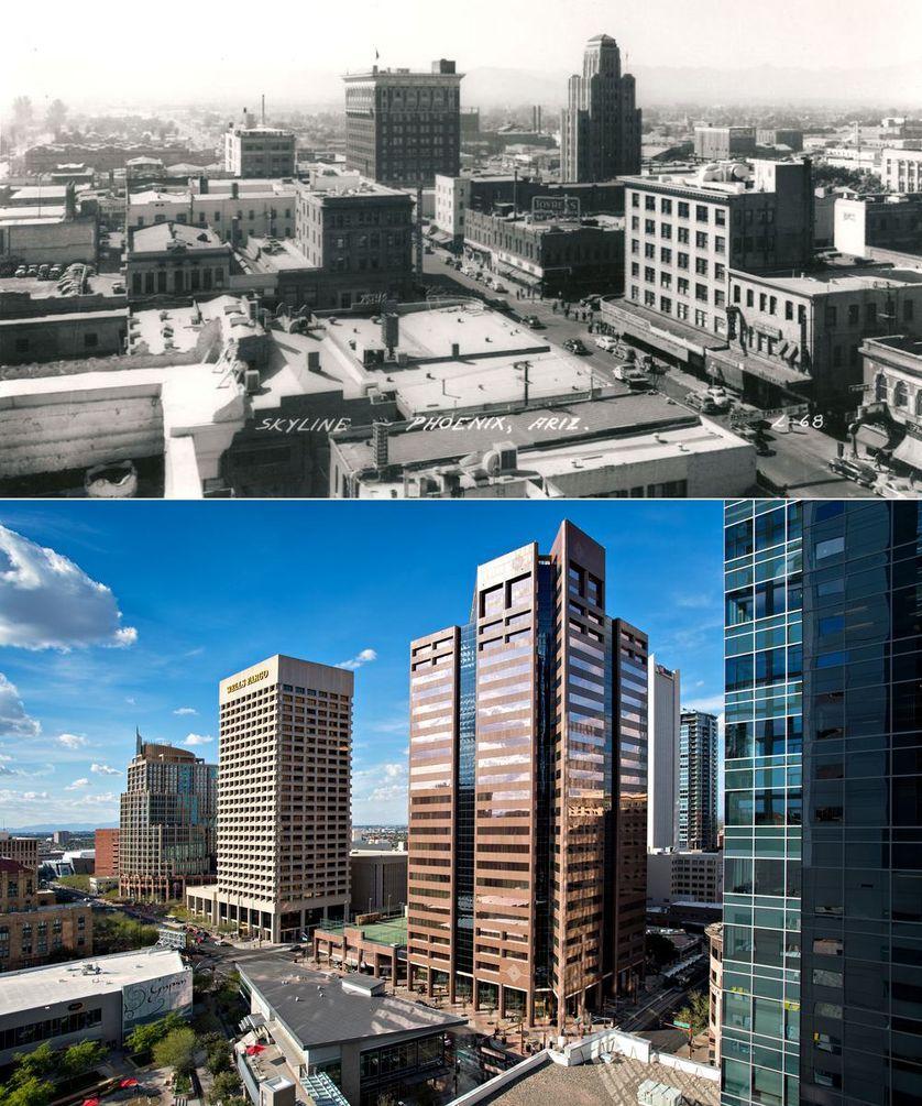 Popüler kentlerin inanılmaz öncesi ve sonrası resimleri Phoenix
