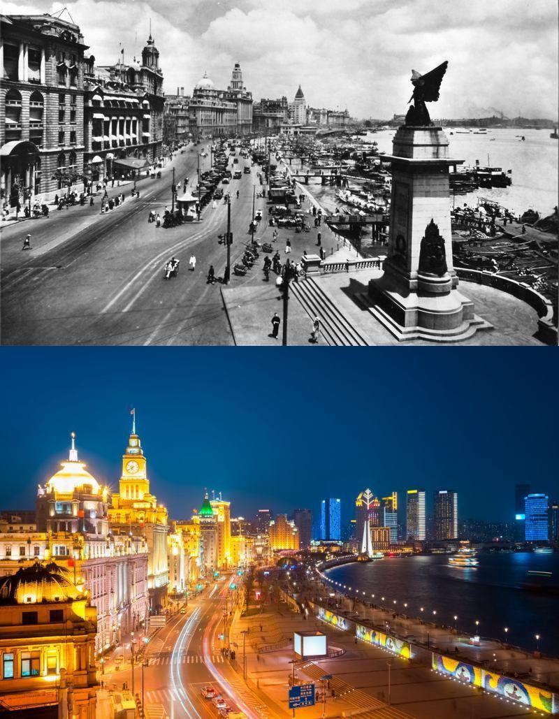 Popüler kentlerin inanılmaz öncesi ve sonrası resimleri Shangai
