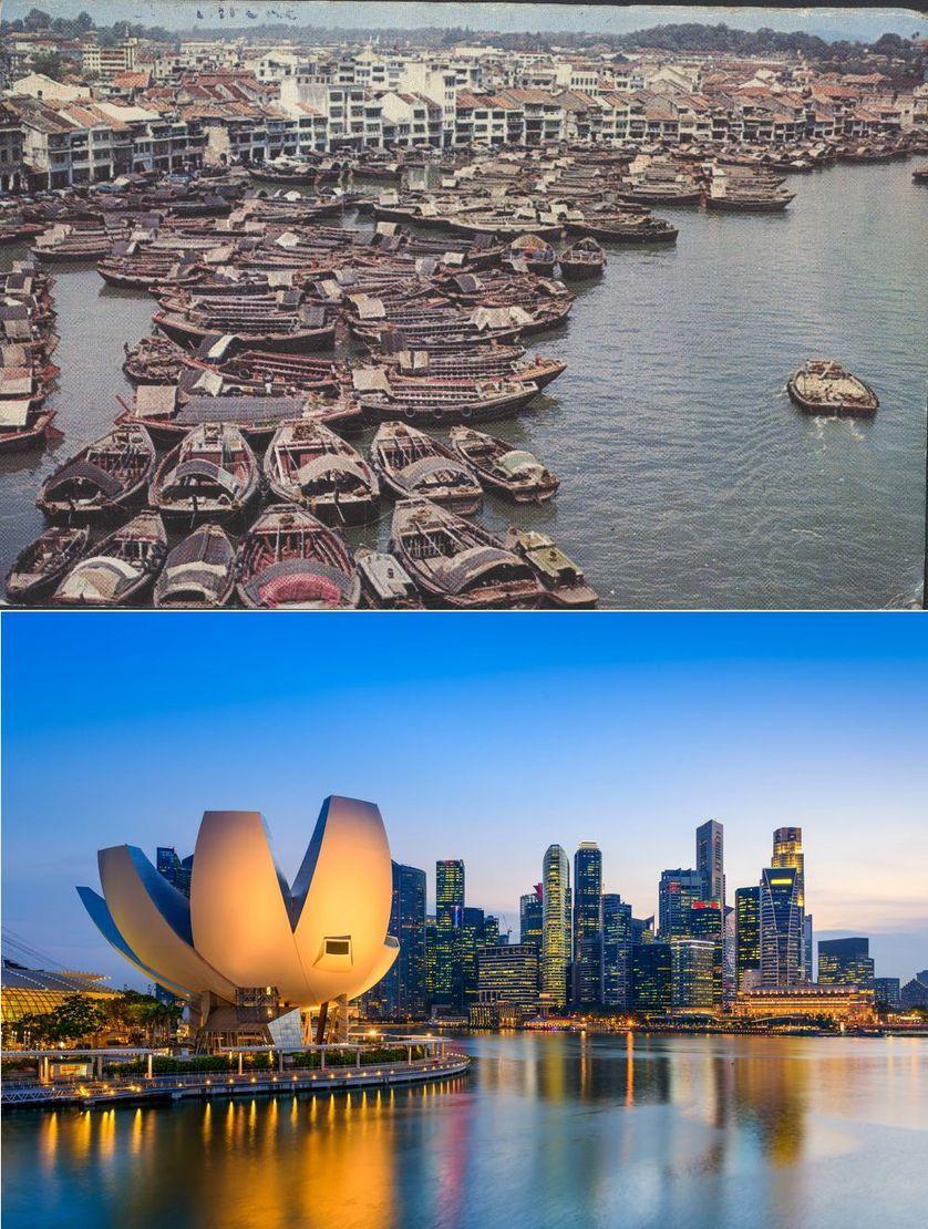 Popüler kentlerin inanılmaz öncesi ve sonrası resimleri Singapore