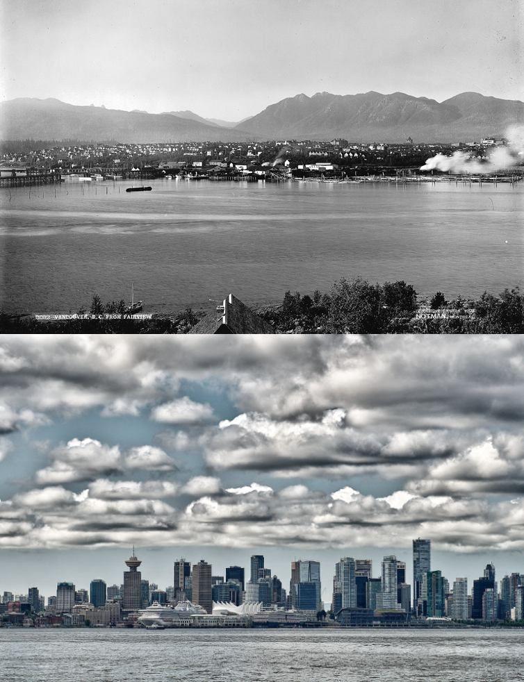 Popüler kentlerin inanılmaz öncesi ve sonrası resimleri Vacouver