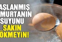 Haşlanmış Yumurtanın Suyunu Sakın Atmayın