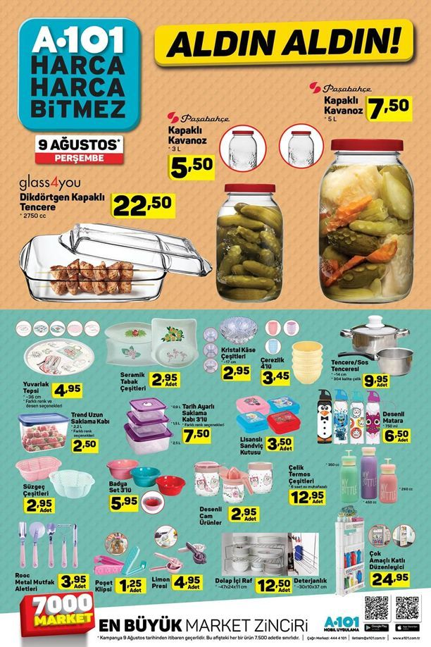 BİM, A101 ve ŞOK marketleri 7-15 Ağustos indirimleri